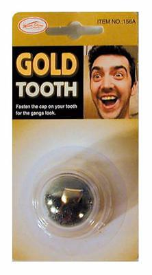 2 slip on GOLD TOOTH prank TJ121 funny pirate fake teeth caps costume dress up (Fake Gold Teeth Costume)