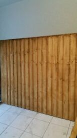 BRAND NEW FEATHERED EDGE FENCE 6X5ft