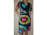 Colourful wrap dress, make: Desigual, size S