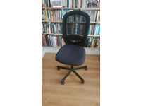 Black swivel office chair - £25 O.N.O (also selling a bamboo desk / table)