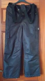 Glacier Point Ski Trousers / Salopettes with braces - 12/13 years