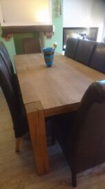 solid oak veneer 8 seater..no chairs
