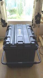 Wheeled Job Box/Indoor-Outdoor Storage Trunk - XL- Great Condition - Dust/Water Resistant - Lockable