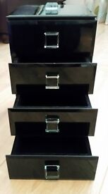 Next - Black Glass Jewellery Box.