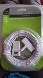 MASTERPLUG 10m TELEPHONE EXTENSION KIT - BRAND NEW.