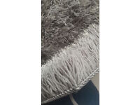 new silver grey shaggy rug soft long pile 120 x 160cm