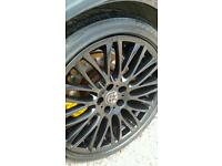 "BMW 20"" BBS ALLOYS - ORIGINAL - MATT BLACK - MINT CONDITION - E65 E60 E90 E92"