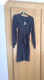 Brand New With Tags Soft Knitted Grey Dress