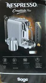 Nespresso Creatista Plus coffee machine rrp£400