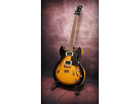 Yamaha SA500 hollow body electric guitar with soft case. Yamahas take on the Gibson ES335