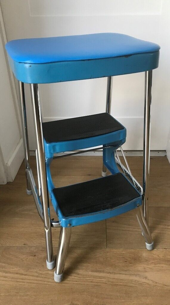 Sensational Vintage Retro 1960S 1970S Prestige Blue Kitchen Steps Stool Kitsch Display In Wallingford Oxfordshire Gumtree Andrewgaddart Wooden Chair Designs For Living Room Andrewgaddartcom