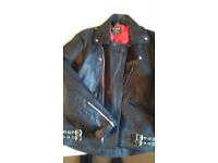 Bikers Leather Jacket size 44 Worn once £50