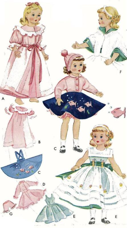 Vintage Doll Clothes Pattern 1809 for 18 inch Maggie Alice by Alexander