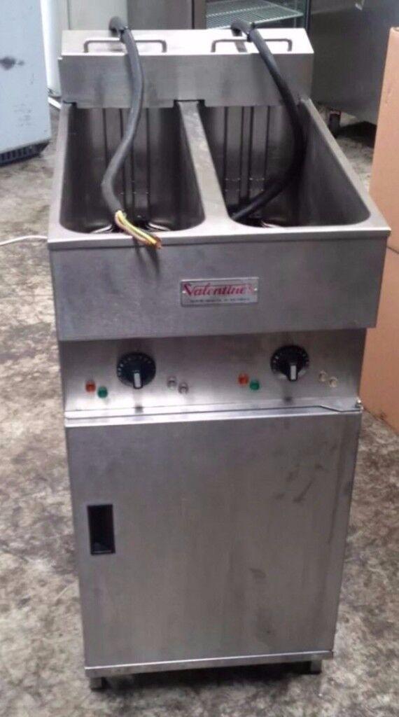Valentine V2200 Double Tank 2 Basket Commercial Chips/Fat Fryer, Single Phase