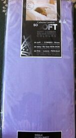 NEW lilac single fitted sheet for sale