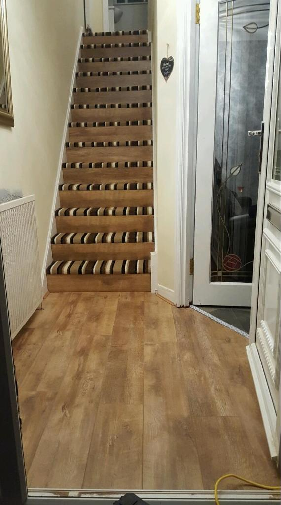 Half Carpet Laminate Stairs In Clydebank West