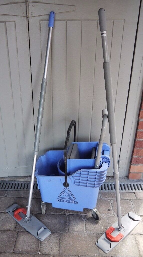 Mop & Squeegee on Wheels Numatic with Two Adjustable Mope Pad Handles As New ( Industrial Quality )