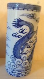 Blue and White Dragon Vases
