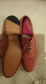 GRENSON ladies pink leather brogues shoes size 6