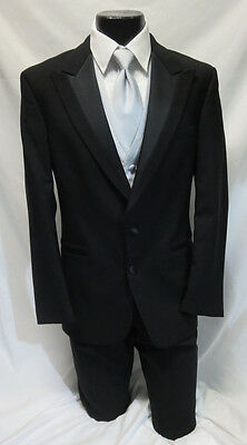 44L Black Perry Ellis 2 Button Modern Prom Tuxedo Package Jacket & Pants Set