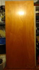 Large Heavy Wooden Door - Reclaimed (smooth, no panels)