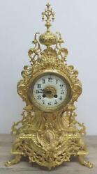 Superb French Antique  Peirced Gilt Bronze Bell Striking Mantle Clock