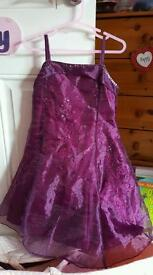 Purple party dress aged 3/4