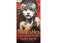 LES MISERABLES TICKETS FOR QUEENS THEATRE LONDON ON 8TH JULY 2017 EVENING PERFORMANCE FOR SALE