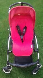 Bugaboo Bee red pushchair Pram with accessories