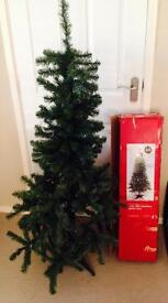 5ft artificial Christmas tree in green