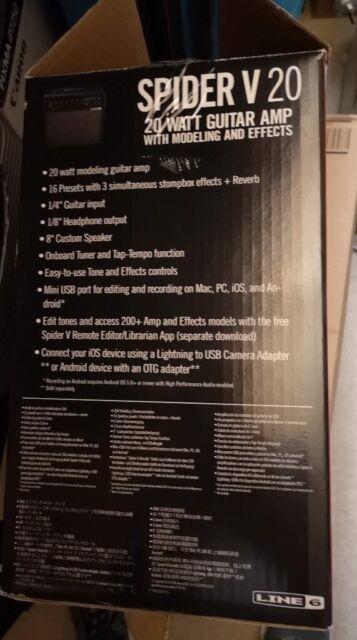 LINE 6 GUITAR AMP - SPIDER V20 COMBO IN BLACK MINT COND  | in Gullane, East  Lothian | Gumtree