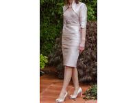 Mother of the Bride Blush Pink Dress & Bolero jacket size 8/10