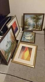 Paintings and oil paintings signed