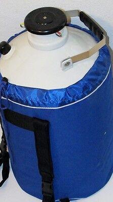 10l Liquid Nitrogen Ln2 Storage Tank Container Cryo Dewar W Canisters Strap New
