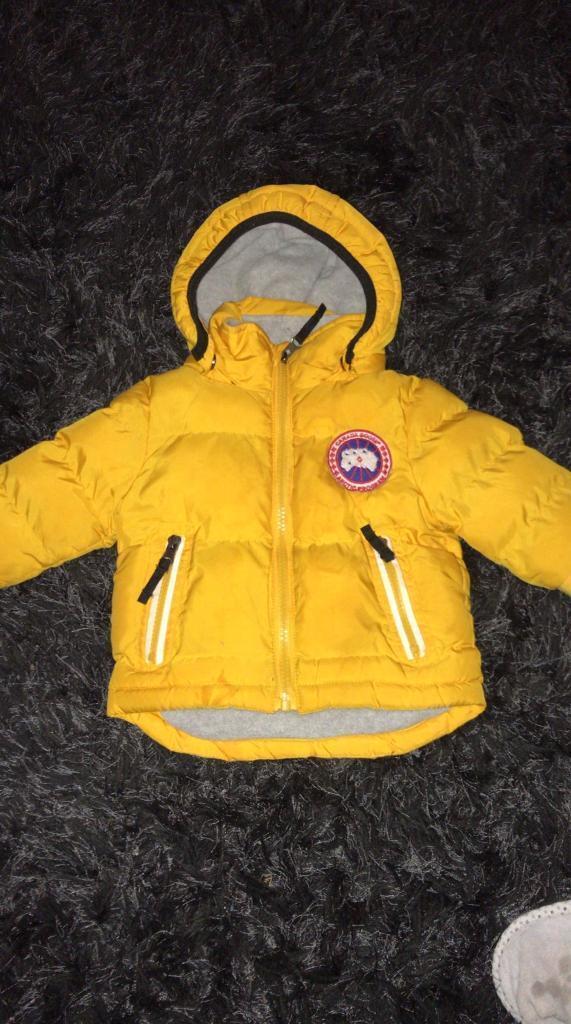 Baby boys Canada goose coat  7cb8a0227356