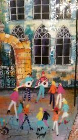 Rozanne Bell Orginal Painting Rainbow Street rrp £1200