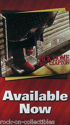 Eric Clapton 2005 Back Home Original Promo Poster Double Sided & Jumbo Size