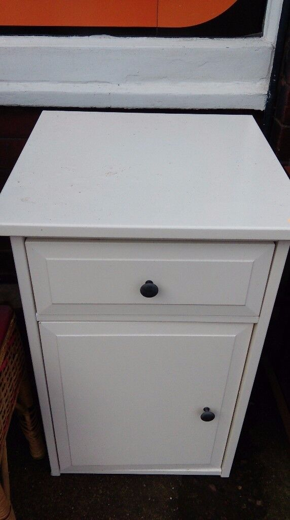 Small white bathroom / bedside cabinet