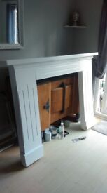 Solid wood fire surrond