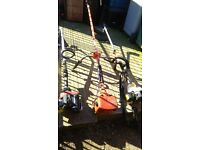 3 x petrol strimmers