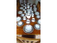 DINNER SERVICE , 78 PIECES, 10 FULL SETTIGS ...JAPANESE FINE CHINA...(SPARES INCLUDED)