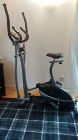 V-Fit Combination 2-in-1 Magnetic Cycle and Elliptical Trainer