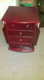 Unit with small cupboard, 2 drawers and magazine rack on each side *** REDUCED ***