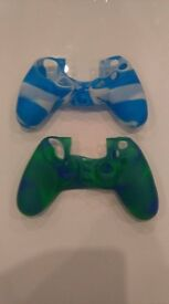 2 silicone rubber covers for PS4 controllers