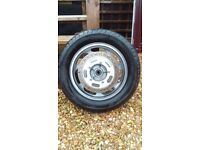 Front wheel for a Kawasaki VN1600 full tread on tyre and wheel in excellent condition.