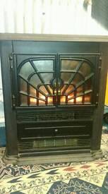 Glen Carradale Black Electric Fireplace