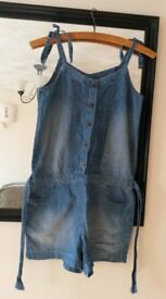 Girls Gap Denim play suit