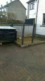 Dog box and security fencing