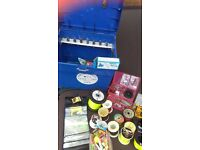 Job Lot of Fishing gear, Rods, Reels Rests, Seat box Daiwa, Pro Touch, Fladen +