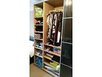 Black Ikea pax storage system